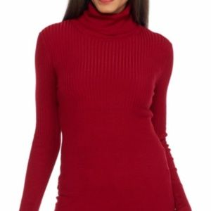 Max Studio Soft Red Turtle Neck Comfy Fall Sweater